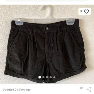 American Eagle black corduroy mom shorts
